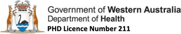 Government of WA Public Health Department Licence 211
