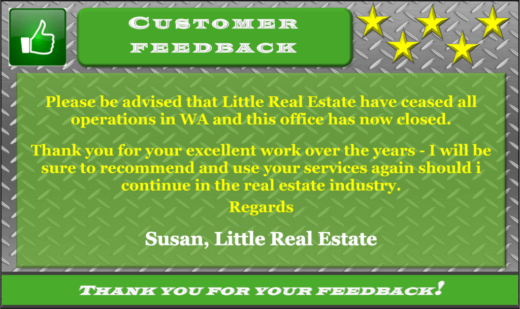 Little Real Estate Testimonial